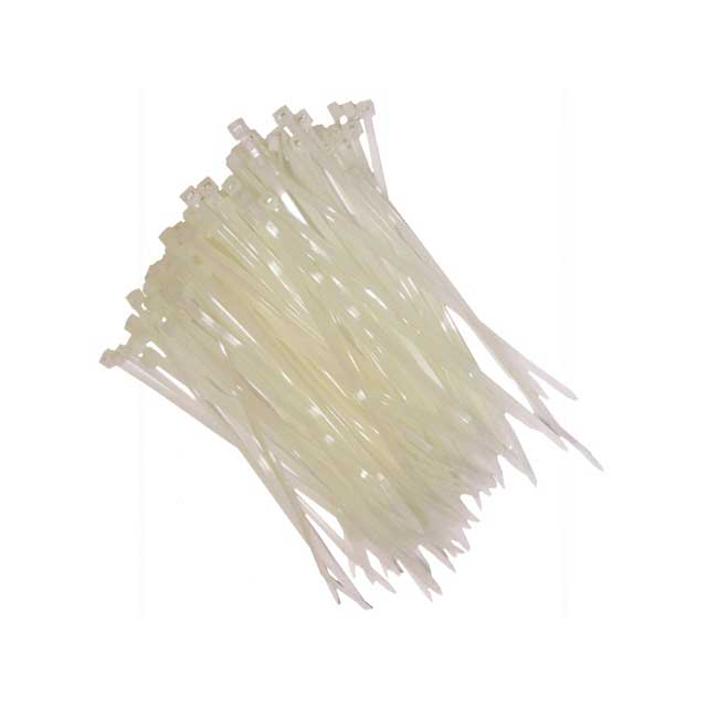 NATURAL NYLON CABLE TIES 142 X 3.2MM PACK OF 100