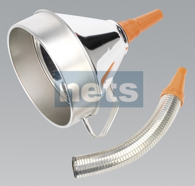 Funnel Metal with Flexible Spout & Filter 200mm