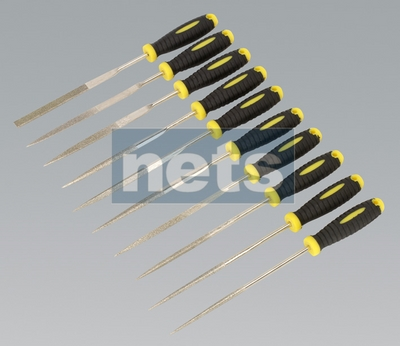 Diamond Needle File Set 10pc 100mm
